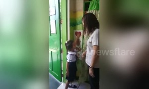 Phillipines teacher has the cutest system ever for greeting students