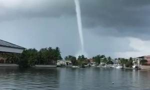 Water Spout Forms Close to Key West