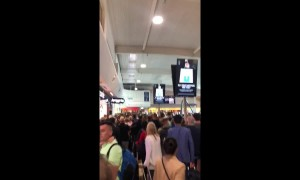 Travel chaos! Luton airport evacuated after fire alarm