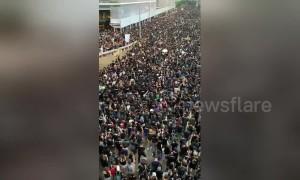 Hong Kong protesters shout 'Hong Kongers, come on' at third massive anti-extradition bill demonstration