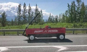 Big Red Wagon in Wasilla