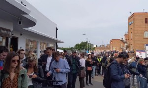 South Western Railway strikes cause 'half a mile' long queue at Surbiton train station