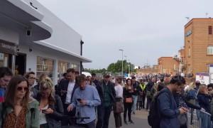 South Western Railway strikes cause 'half a mile' long queue at Surbiton train station