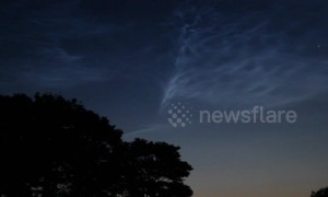Videographer captures stunning display of glowing noctilucent clouds over Northern Ireland