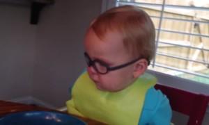 Baby Falls Asleep at the Table