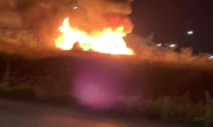 Car Erupts into Flames