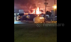 'Largest' refinery on US east coast explodes in flames