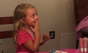 7-year-old gets surprised with two kittens for her birthday