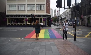 Rainbow crossing opens in London for Pride month