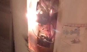 Water Heater Sends Out Sparks