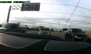 Impatient Driver Causes Huge Collision