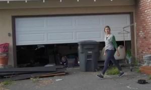 Little Child Out Runs Falling Ladder