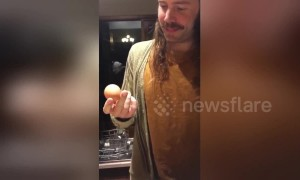 'Egg whispering' Aussie man wows friends by knowing how to find a double-yolked egg