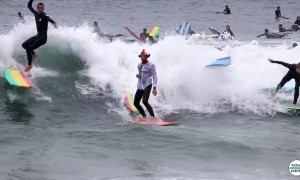 Huge party wave turns into huge surfing fail
