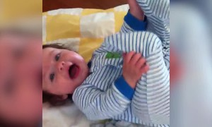 Baby Girl has Great Impression of a Monster