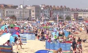 Brits hit the beach as UK experiences hottest day of year