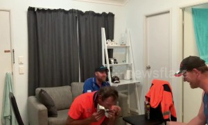 Aussie blokes suffer while eating The World's Hottest Corn Chips