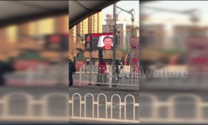 Facial recognition system set up to catch jaywalkers in China