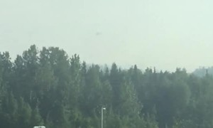 Brush Fire Rages in Alaska
