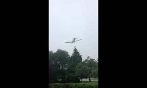 Small plane crash lands in Rhode Island neighbourhood