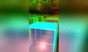 Mesmeric dichroic 'infinity cube' that goes on forever is actually a lamp