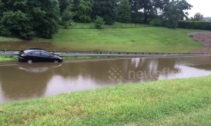 Flash flooding emergency declared in Washington DC area as roads turn into rivers