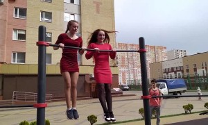 Two Talented Girls Show Some Strength