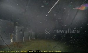 Insane wind and rain pelts Canadian town