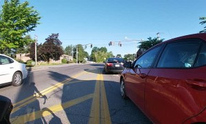 Dangerous Driver Screams at Cyclist