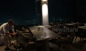 'Staff and guests were terrified' as UK tourists caught in raging storm while at Greek restaurant