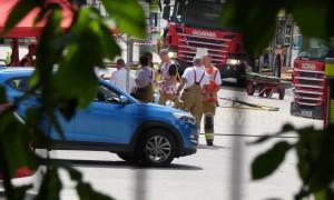 Huge blaze breaks out at Warner Bros studios as police cordon off area