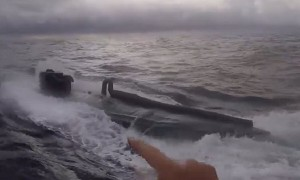 U.S. Coast Guard amazingly intercepts drug-smuggling submarine