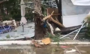 Insane aftermath footage of Halkidiki storm in Greece