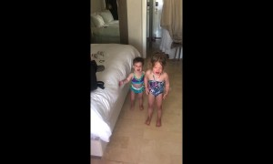 US dad tricks both of his young daughters into ending their tantrums