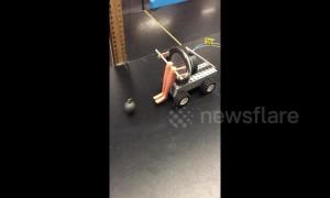 Australian science teacher makes slightly creepy device to explain pendulums