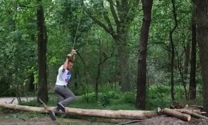 Broken Branch Can't Stop Back Flip