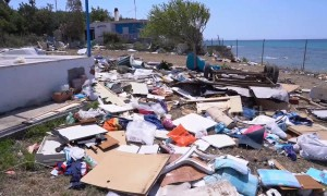 Footage shows trail of destruction from deadly Greek storm