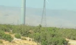 Wind Turbine Twirls Away