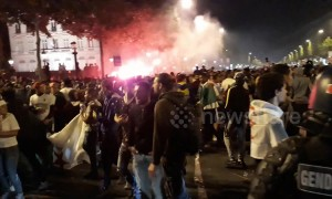 Jubilant Algeria fans celebrate Africa Cup of Nations semi-final win in Paris