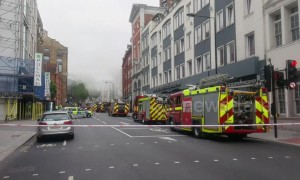 Eight fire engines attend blaze in London's Farringdon