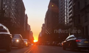 "Stunning ""Manhattan henge"" delights New Yorkers once more"