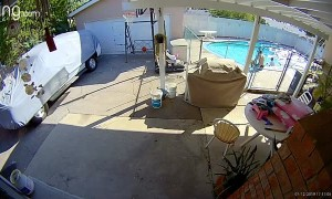 Diving Board Gives Way Mid-Dive