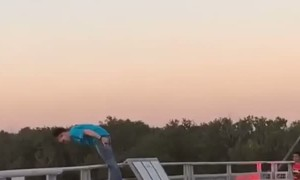 Man Shows Concern for Crying Woman on Bridge