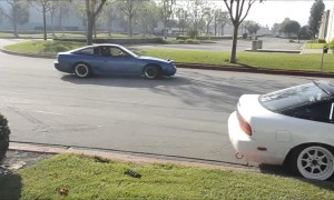 Drift Car Handbrake Testing Goes Wrong