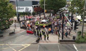 Police move in on Extinction Rebellion protesters blocking Bristol road