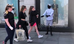 Fake mannequin prank startles pedestrians in Ireland