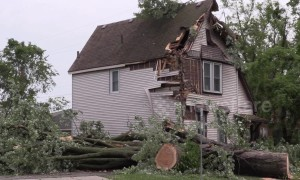 Severe thunderstorm damage in Dunnville, Ontario