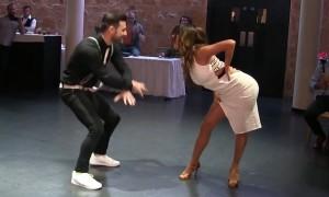 Newlyweds perform amazingly choreographed dance