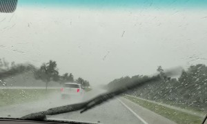 Lightning Storm Startles Drivers
