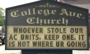 Canada church has hilarious threat to air conditioning thieves during heatwave